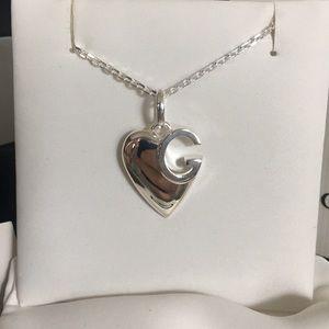 Authentic Gucci Heart G Logo Pendant Necklace
